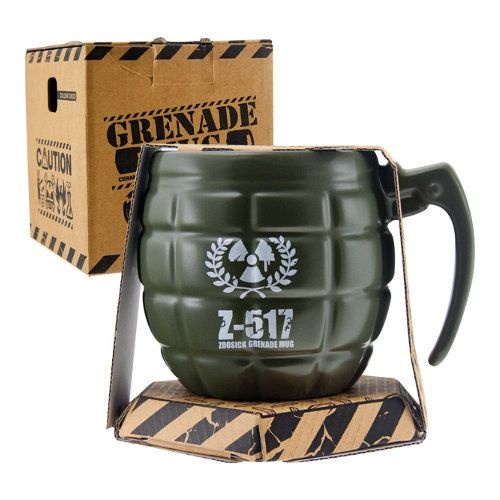 Man cave ideas - Father's Day Gift Guide - Army gift ideas for Dads - Novelty gifts - grenade mug - The Furniture Store