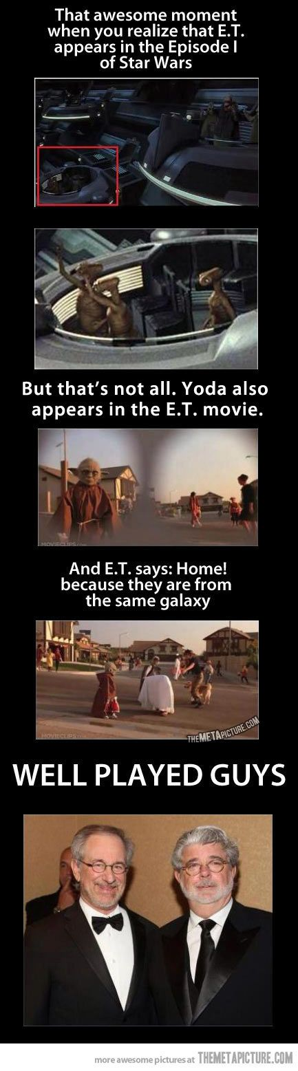 Cameo appearance in Star Wars and E.T… maybe...