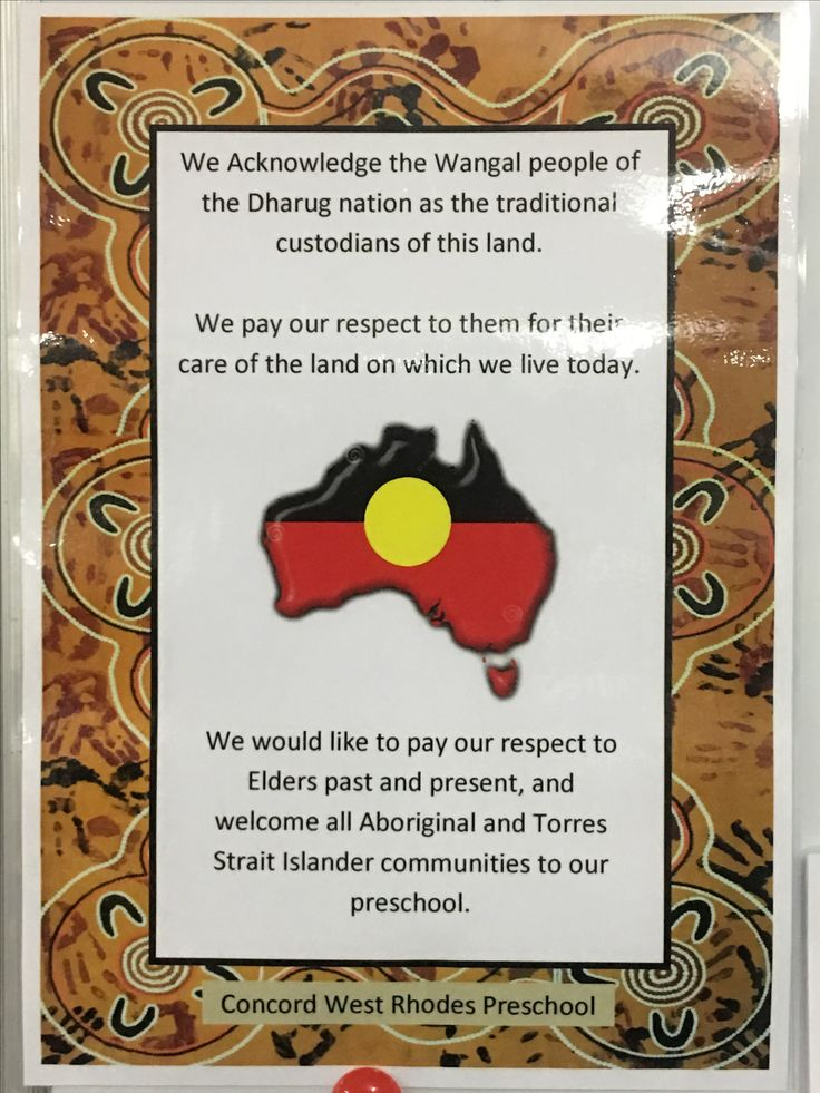 Acknowledgement of Country at Concord West Rhodes Preschool