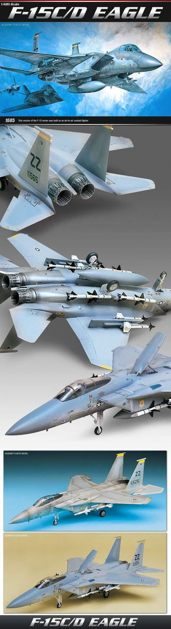 stylecolorful - NEW 1/48 F-15C/D EAGLE ACADEMY MODEL KIT   http://www.stylecolorful.com/new-1-48-f-15c-d-eagle-academy-model-kit-12257-fighter-aircraft-usaf-fighter/