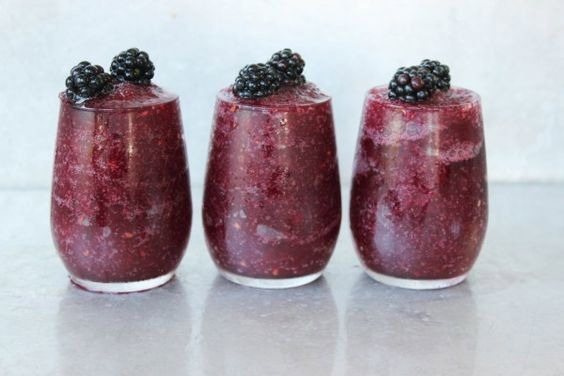 Blackberry Wine Slushy - From vodka to tequila and everything in between, these cocktail slushies recipes will keep you cool all summer long.