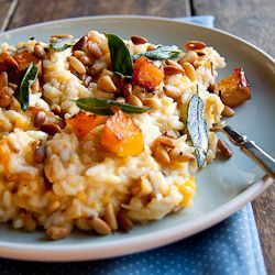 Baked Risotto with Butternut, Pine Nuts