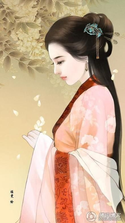 Mujer Arte chino absolutamente bello y delicado