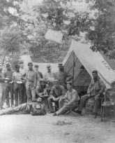 American Civil War Pictures & Photos | Drewry's Bluff, Virginia. Band of 1st Connecticut Heavy Artillery at Fort Darling on James river.