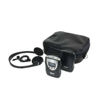 Assistive Listening Devices: These devices are used for people who are hard of hearing.  They assist by amplifying sounds and/or improving the Sound to Noise (SNR) ratio.  A microphone picks up the sound and transmits it via an FM signal to a headset or in-ear headphones. -------- Williams Sound PFM PRO Personal FM Listening System - $642.00