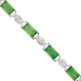 Genuine IceCarats Designer Jewelry Gift Sterling Silver 7Inch Polished Open-Backed Green Jade Bracelet In 7.00 Inch IceCarats. Save 68 Off!. $66.00. Sterling Silver. Genuine IceCarats Designer Jewelry Gift. 30 day money back guarantee. Polished Open back Sterling silver Jade Hidden catch 6 stones. Weight 13.43 grams