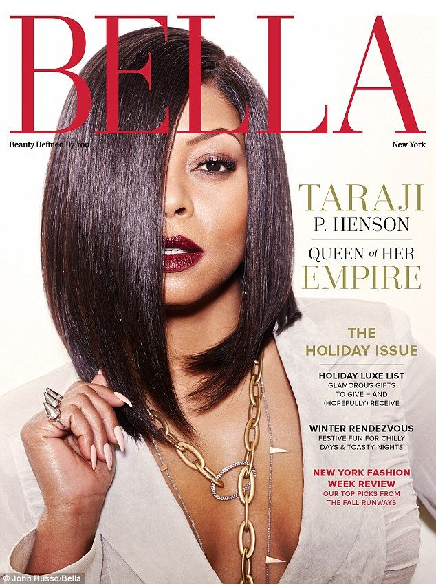 Hairstyle Magazine hairstyle magazines Lady In Red Taraji Rocked A Trendy Crimson Lip On The Cover Of Bella