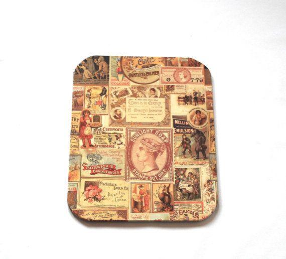 Mousepad Advertisment Untersetzer Ablage handmade von Arsunica, €9.00