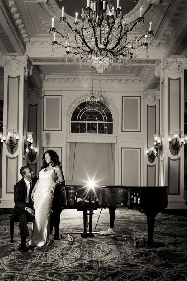 elegant engagement photos dania and terron