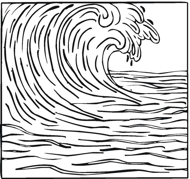 wave printable coloring pages - photo#1