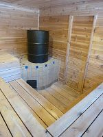 Sweet! - A Rocket Mass Sauna. It would be great to have a rocket-stove-powered sauna in the greenhouse or the outdoor great room.