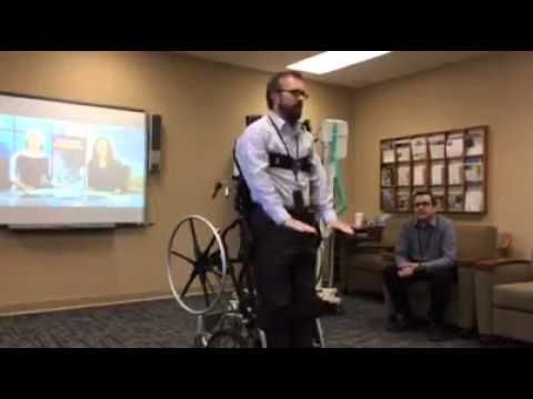 Stand up wheelchair invented at Minnesota VA - YouTube