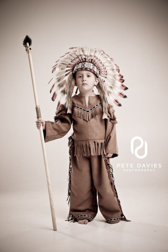 Boys Native American Red Indian Chief Costume for Kids - handmade by AtelierSpatz