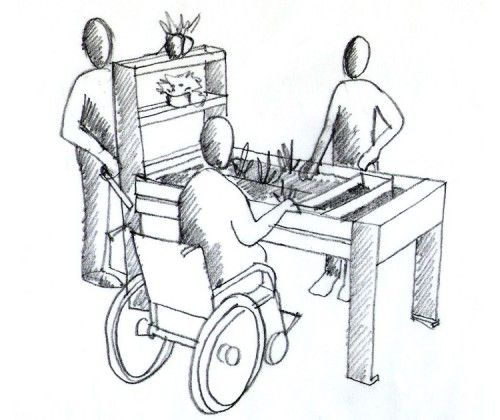 guyon jardin therapeutique rectangulaire PMR handicape