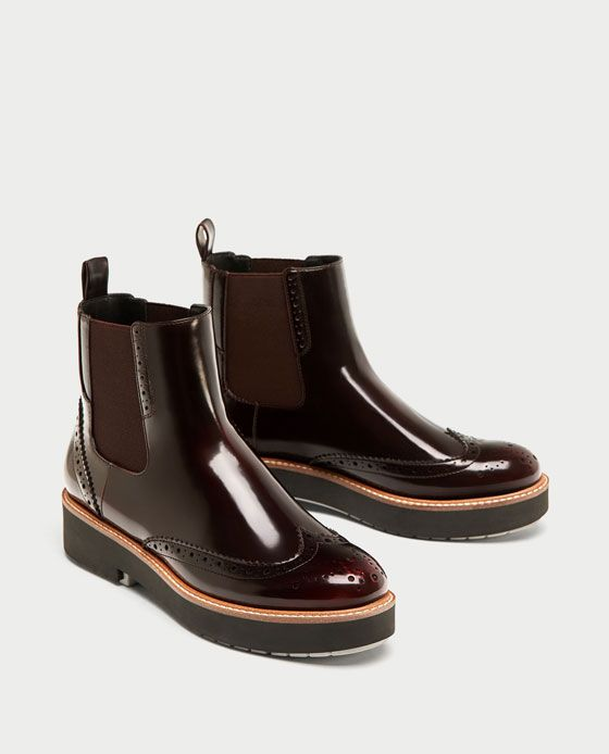 ZARA - WOMAN - FLAT ANKLE BOOTS WITH ELASTIC SIDE TABS