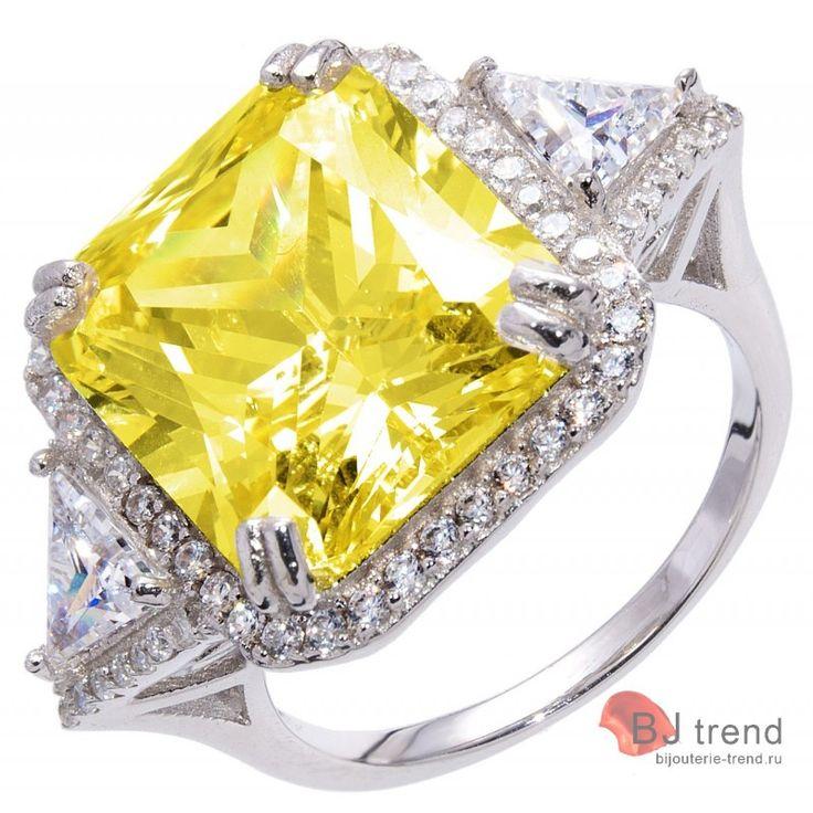 Предлагаем кольцо в стиле GRAFF с цирконами имитирующими желтые и белые бриллианты
