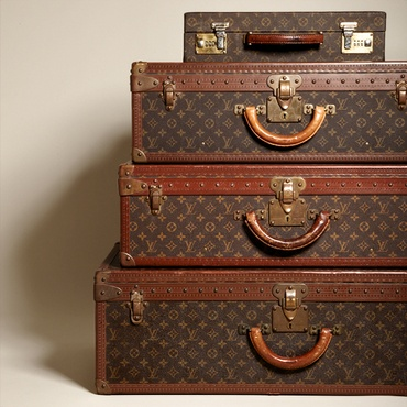Vintage Louis Vuitton Luggage on sale today.