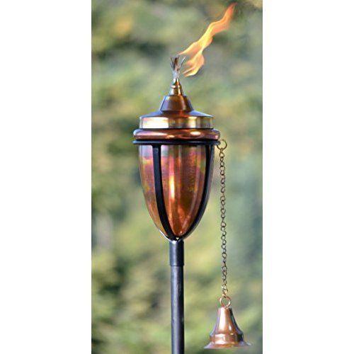 """Copper Garden Torch Outdoor Lighting 6 """" High #HPotter"""