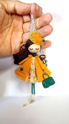 Necklace and brooch jewelry doll by Delafelicidad on Etsy