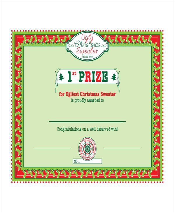 10 winner certificate templates free printable word pdf formats