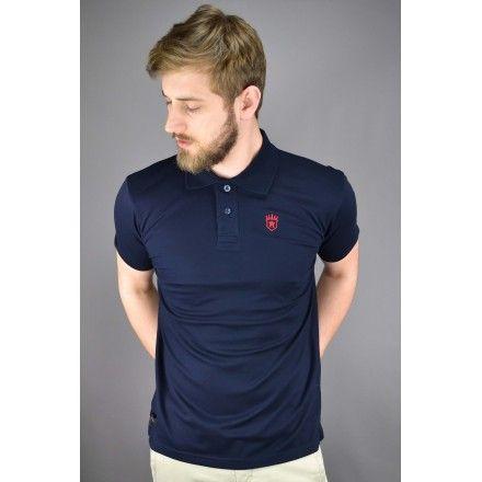 Polo homme bleu marine pas cher haut de gamme premium de marque française Aristow
