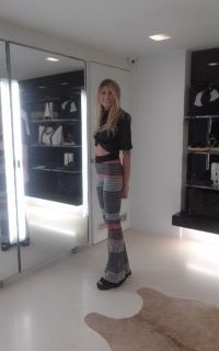 Our beautiful customer Christiana Proestou at our stores in Kifissia! She is wearing  Shirt by @carlagstyle, trousers by @SPACEconcept and shoes by @vicmatie