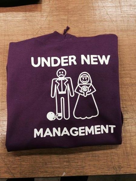 Personalised t-shirt  The new management after Valentine's Day