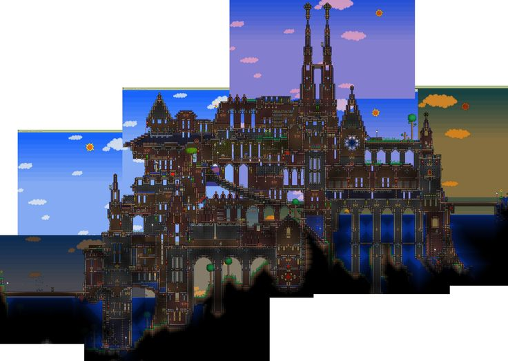 42 best terraria house ideas to build images on pinterest for Build a castle home