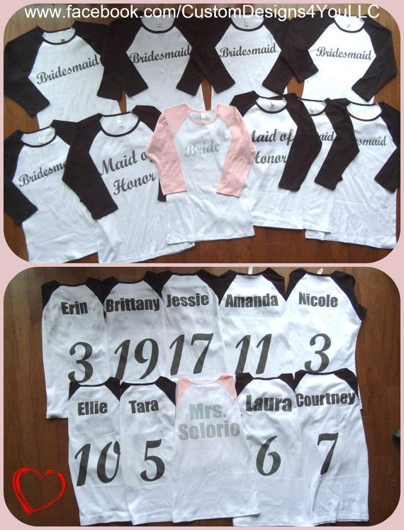 Team Bride Bridal wedding party personalized by CustomDesigns43, $14.00