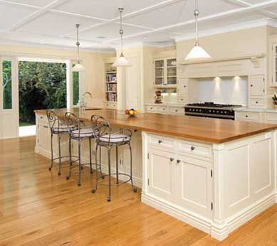 Traditional and tasteful kitchen, finished in Resene Half Spanish White.