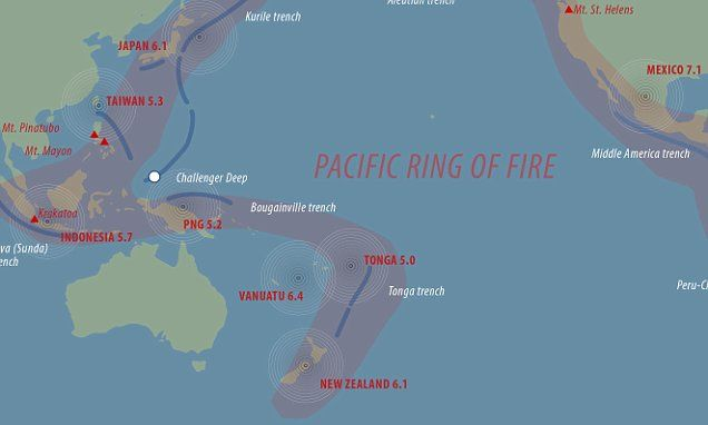 How chain of earthquakes in Pacific's 'Ring of Fire' are linked