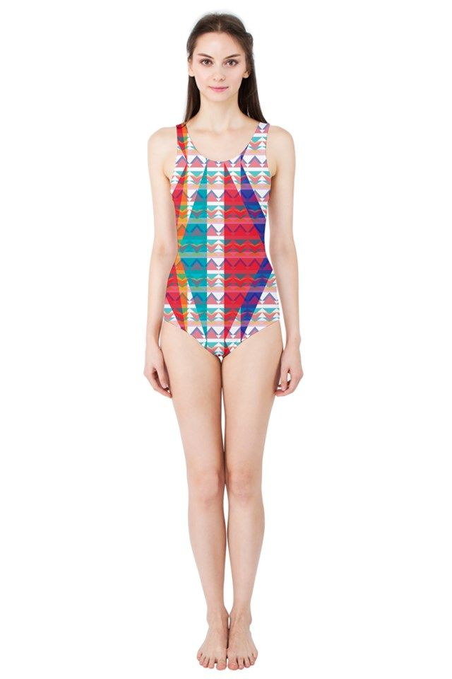Triangle Illusion_MirandaMol Women's One Piece Swimsuit  #pinkcess #mirandamol #fashion #cool #beachwear #swimsuit #beach #summer #pinkcess #pinkcessfashion #pnkx