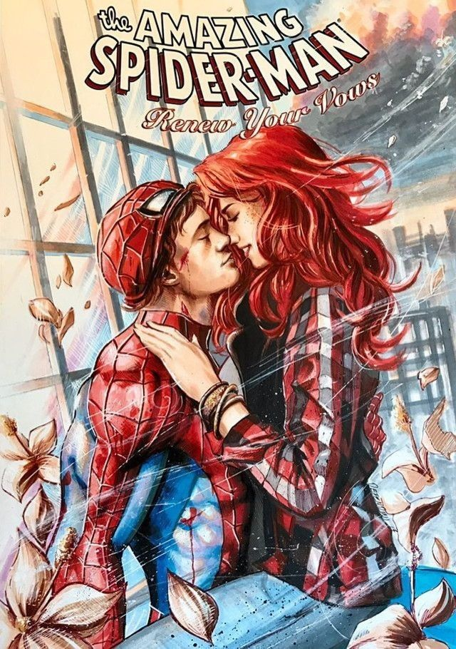 Spider-Man and Mary Jane | Cool art | Gwen stacy comic ...