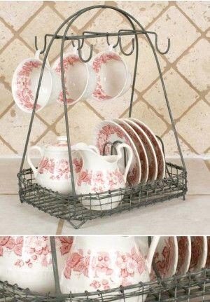 Vintage Dish Caddy, Antique Dish Caddy, Dish Rack, Drying Dish Rack, Rustic Dish Caddy, Distressed Dish Caddy, Metal Dish Caddy, Galvanized Dish Caddy