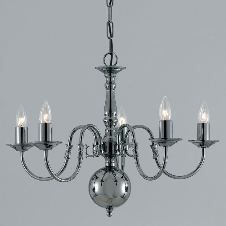 Traditional 5 Arm Flemish Chandelier Classic Style In Soild Brass With An Gun