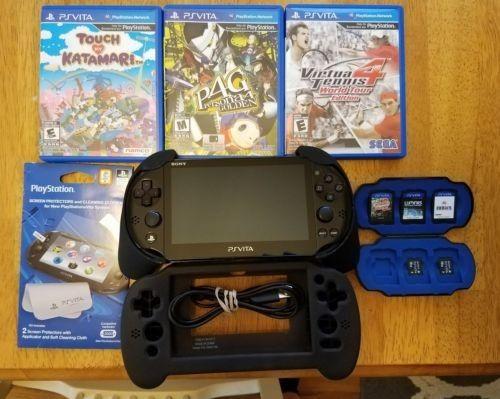 PlayStation Vita Slim PCH 2001 System Bundle w/ Games