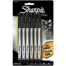 Sharpie Pen Fine - Assorted 6 Pack - 1751690 - The Consumer Link