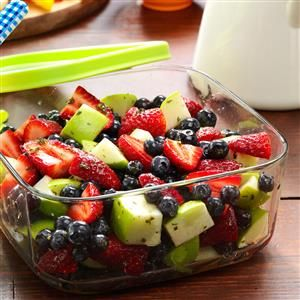 Honey-Lime Berry Salad Recipe -I picked up this dish a couple of years ago, and really like the mint and fruit combo. Cilantro is one of my summer favorites so sometimes I use it instead. Turns out, this recipe's really two in one! —Kayla Spence, Wilber, Nebraska