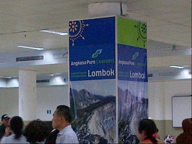 Terminal Bandar Udara International (LOP) di West Lombok, Indonesia