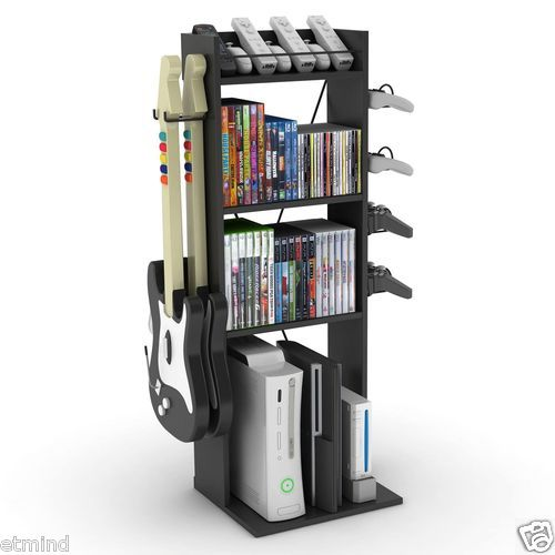 New Video Game System Storage Rack Accessory Organizer Xbox PS3 Holds 60 Games | eBay