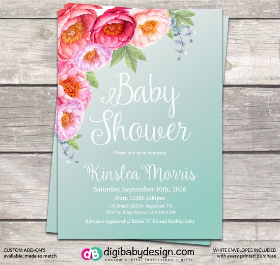318 best Baby Shower Invites Ideas and Inspiration images on – Garden Party Baby Shower Invitations