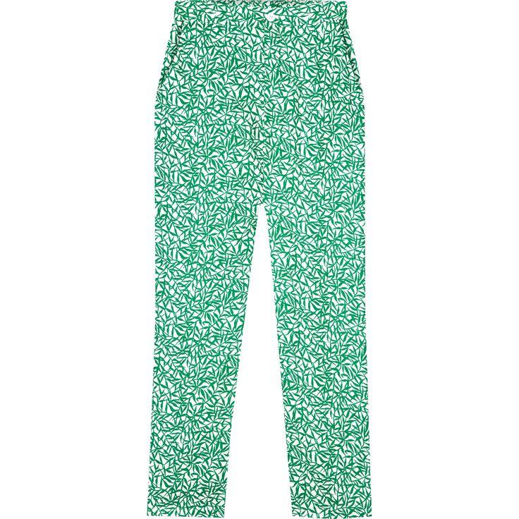 pantalon darina vert cette saison, on retrouve de nombreuses pièces imprimées de couleurs vives comme le pantalon Darina à la coupe fuselée.