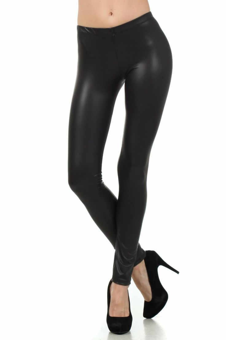 Sakkas Footless Ultra Slim Fit Matte Liquid Wet Look Leggings http://www.amazon.com/exec/obidos/ASIN/B004KTRH26/hpb2-20/ASIN/B004KTRH26 They do look like leather/liquid. - These leggings are JUST long enough, I would actually prefer them a little bit longer, they hit right above my ankle bone. - The seam hadn't completely unravelled, but you could see the stitches started to loosen up.