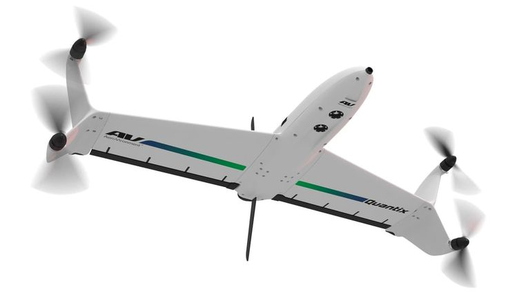 Intended for industrial applications such as remote sensing and surveying, the Quantix drone is programmed via...