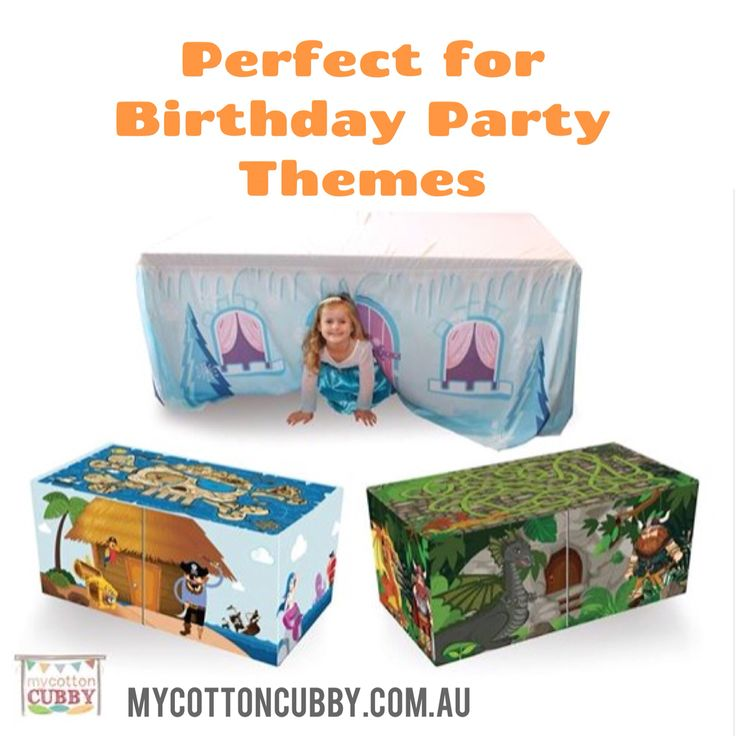 Perfect for Birthday Parties with a theme. Frozen, Pirates, Dragons. www.mycottoncubby.com.au