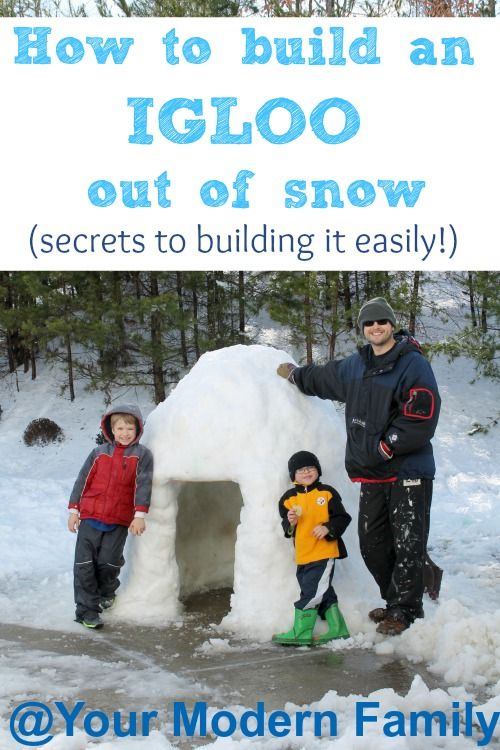 FUN snow activity!   Build an igloo out of snow today!  (secrets & tips to building it easily)