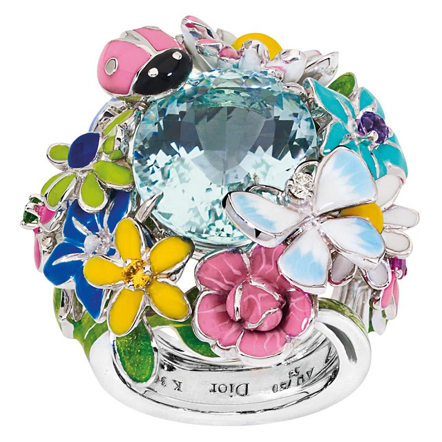 Diorette by Dior-White Gold, Diamond, Aquamarine, Amethyst, Pink Sapphire, Yellow Sapphire, Tsavorite and Lacquer.