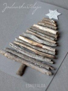 decorazioni e lavoretti di Natale con i legnetti