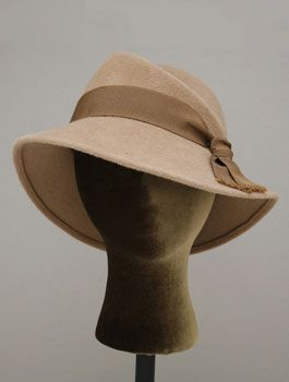 "Pinkham Millinery handmade in Portland, Oregon ""Sloper DC"" felt hat."
