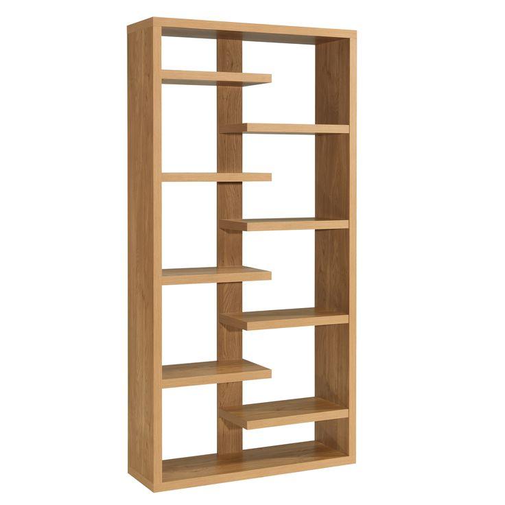 Dining Room Bookcase Oak Veneer Shelving Unit Toronto Modern Wood